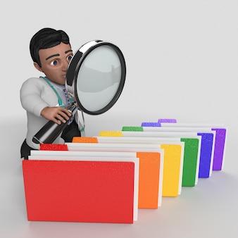 Personaggio dei cartoni animati medico 3d