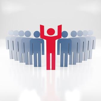 Persone - concetto di squadra di affari