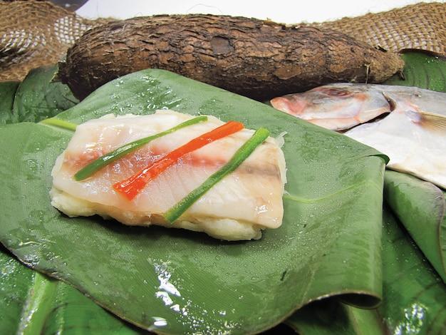 Pesce cotto stile amazzonico