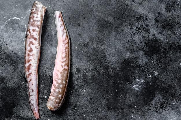 Pesce crudo dell'anguilla .. copi lo spazio