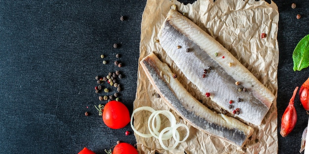 Pesce di pesce salato alle aringhe