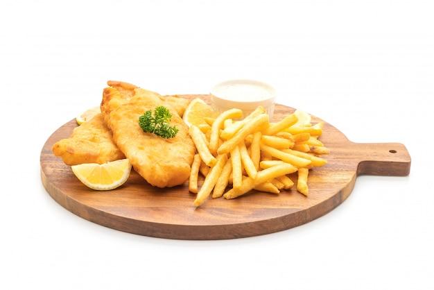 Pesce e patatine fritte con patatine fritte