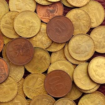 Peseta antica antica della moneta di valuta della repubblica della spagna 1937 vecchia