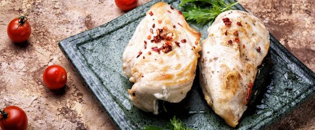 Petti di pollo sani al forno