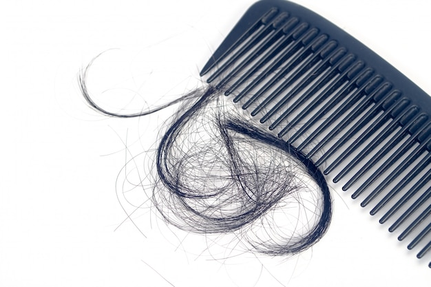 Pettine per il problema della perdita di capelli di presentazione.