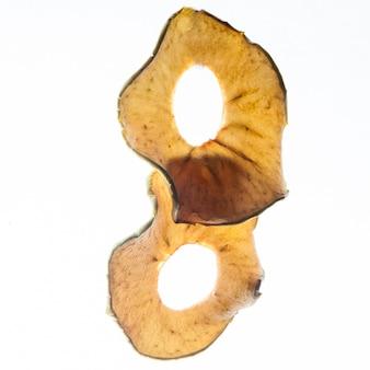 Pezzi di mela essiccati