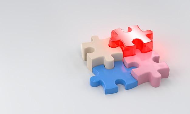 Pezzi di puzzle colorati