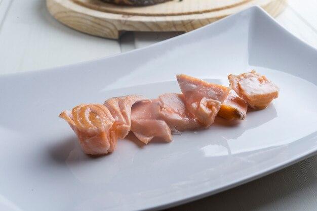Pezzi di salmone