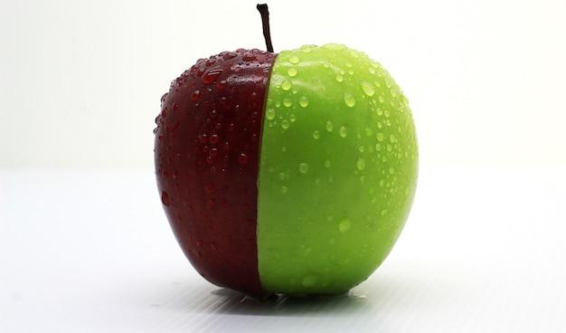 Photoshoot verde mela rossa fresca