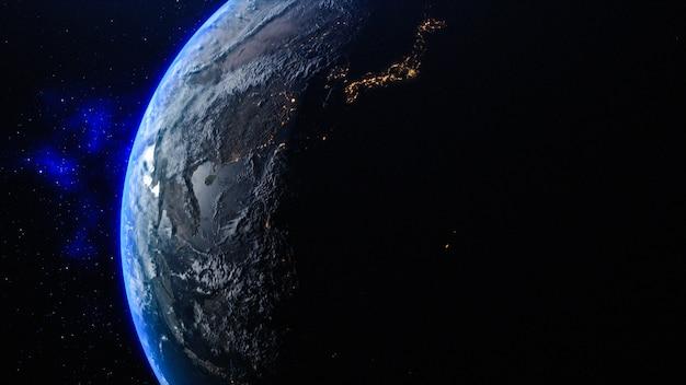 Pianeta terra nello spazio