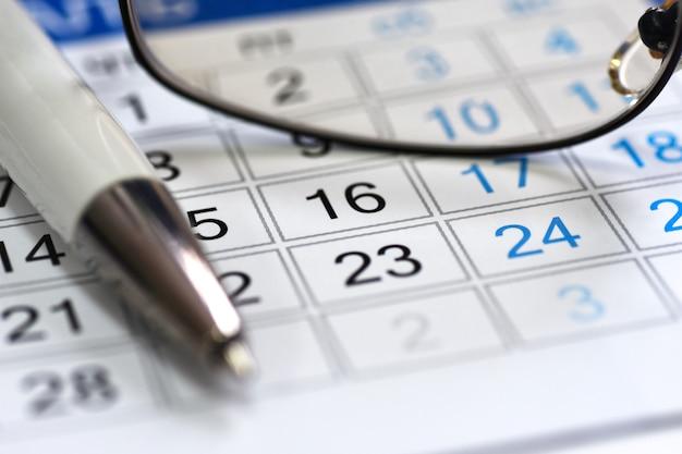 Pianificatore di calendario nel gestore del posto di lavoro