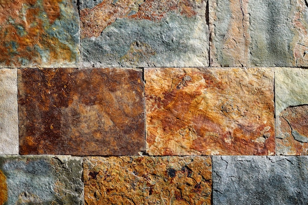 Piastrelle di pietra colorata trama ardesia