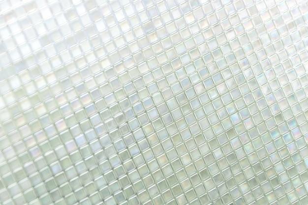 Piastrelle di vetro blu senza saldatura texture di sfondo, finestra, cucina o bagno concetto