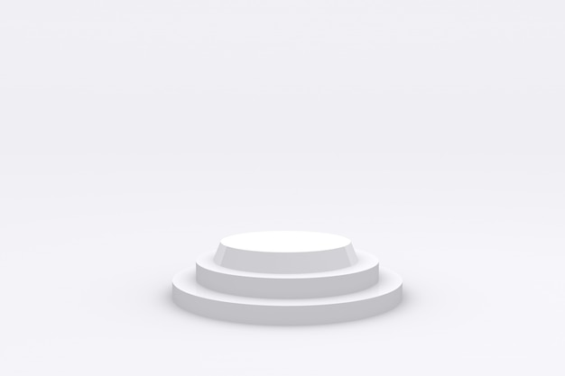 Piattaforma di visualizzazione del prodotto podio bianco rendering 3d foto premium