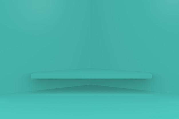 Piattaforma di visualizzazione del prodotto podio rendering 3d foto premium