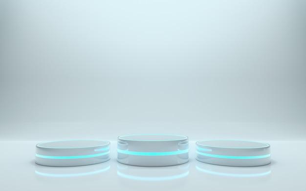 Piattaforma per il design, podio vuoto per prodotto. rendering 3d - illustrazione