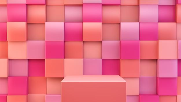Piattaforma rosa e arancione