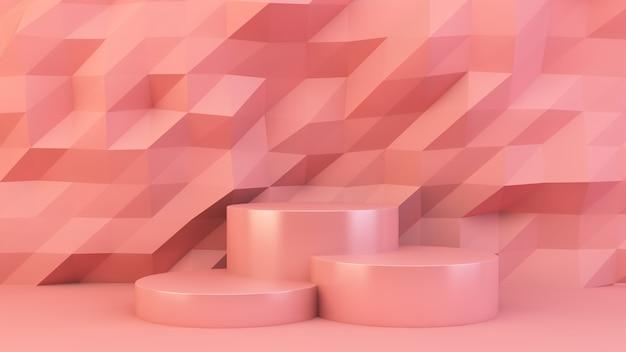 Piattaforma rosa per la presentazione del prodotto