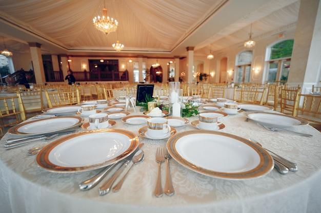 Piatti di nozze eleganti