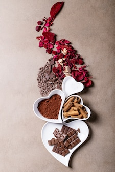 Piatti in ceramica per san valentino