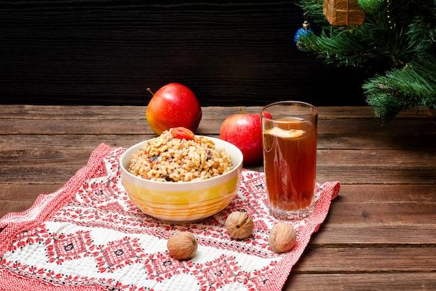 Piatto della tradizionale tradizione slava alla vigilia di natale