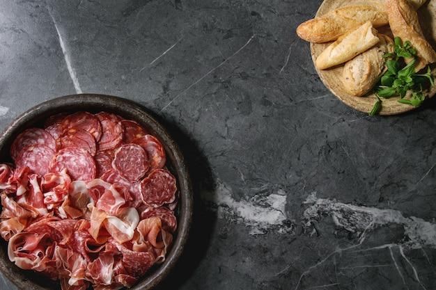 Piatto di carne assorti