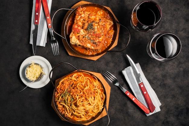 Piatto e pasta lasagne