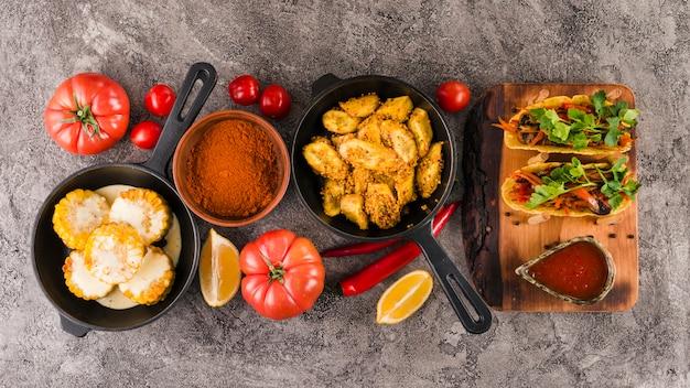 Piatto laici di cibo messicano