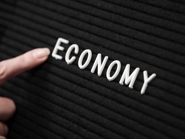 Piatto lay del concetto di economia