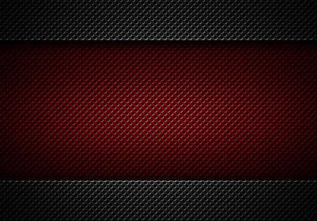 Piatto perforato nero moderno astratto rosso