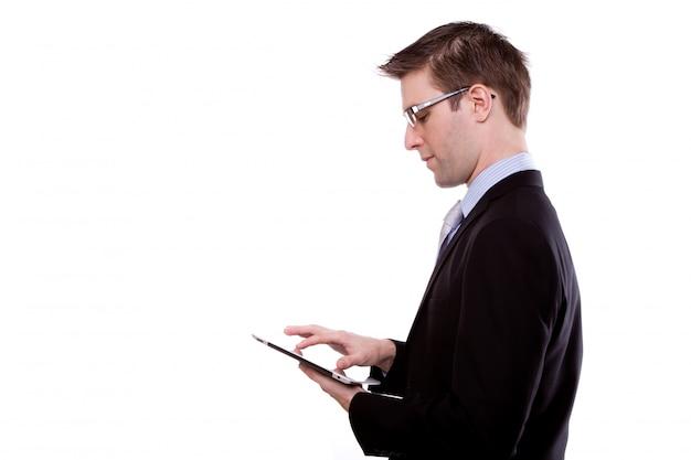 Piatto wireless giovane cellulare pad