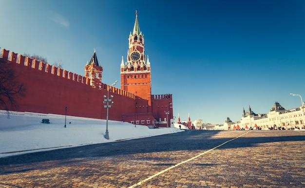 Piazza rossa in inverno