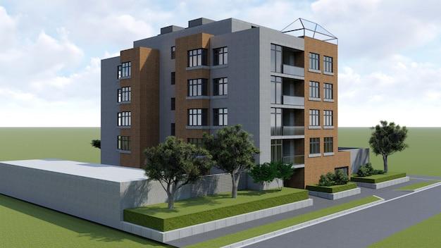 Piccolo condominio funzionale con una propria area chiusa, garage e piscina