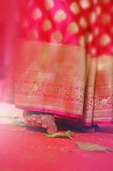 Piede della sposa, matrimonio indiano