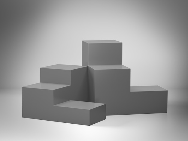 Piedistallo grigio per display con limbo