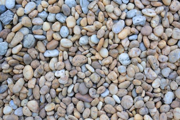 Pietra del ciottolo di colore su terra per il fondo di struttura.
