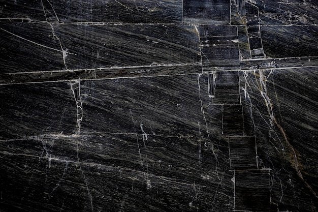 Pietra nera trama di sfondo cracking stone