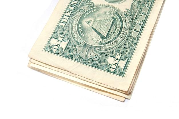 Pila di banconote da un dollaro