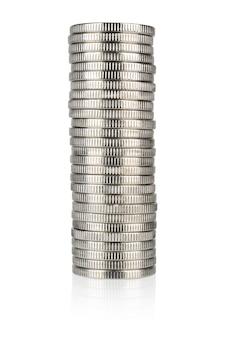Pila di monete d'argento