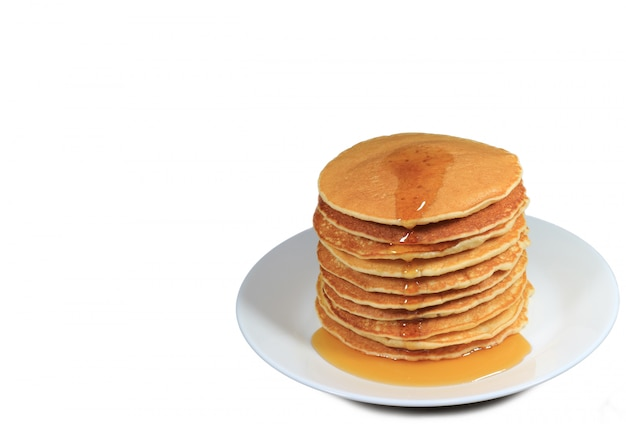 Pila di pancake con sciroppo d'acero