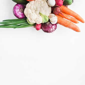 Pila di verdure sane