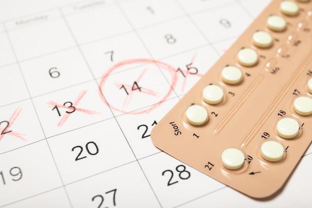 Pillole contraccettive e calendario