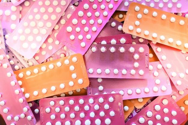 Pillole contraccettive in blister per controllo delle nascite