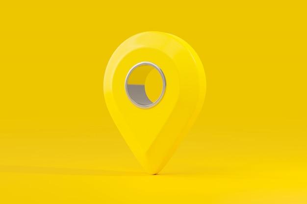 Pin map colore giallo