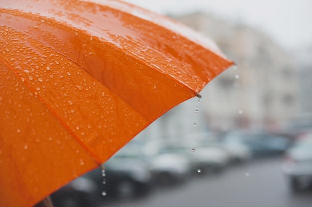 Pioggia sull'ombrello