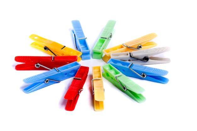 Pioli di stoffa colorati