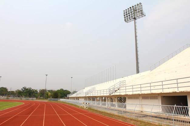 Pista da corsa e campo dello stadio