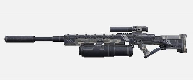 Pistola laser militare di fantascienza.