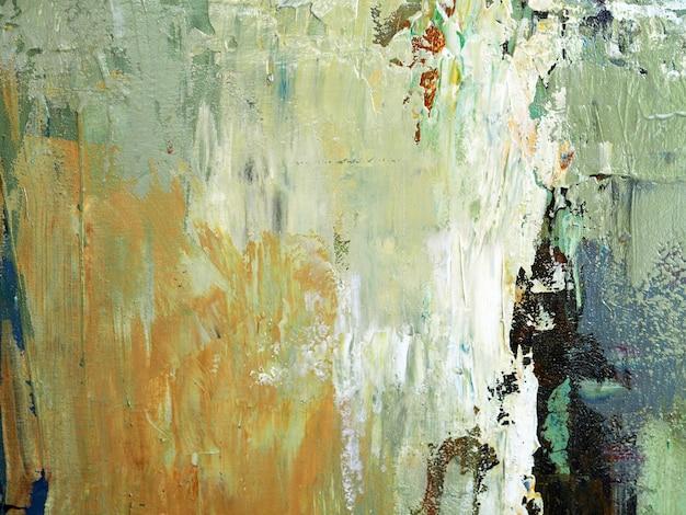 Pittura a olio di tiraggio della mano fondo beige dell'estratto di struttura del colpo della spazzola di colore su tela.