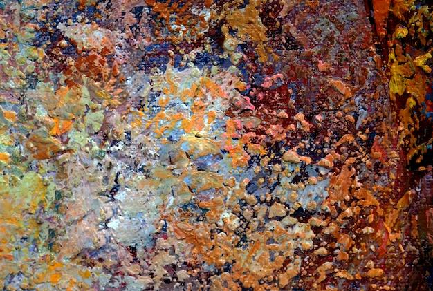 Pittura a olio sul fondo dell'estratto della tela con struttura.